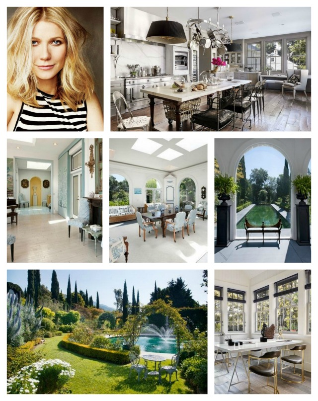 Gwyneth Paltrow Santa Barbara home celebrity homes interior design ideas