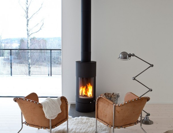 modern unique fireplace