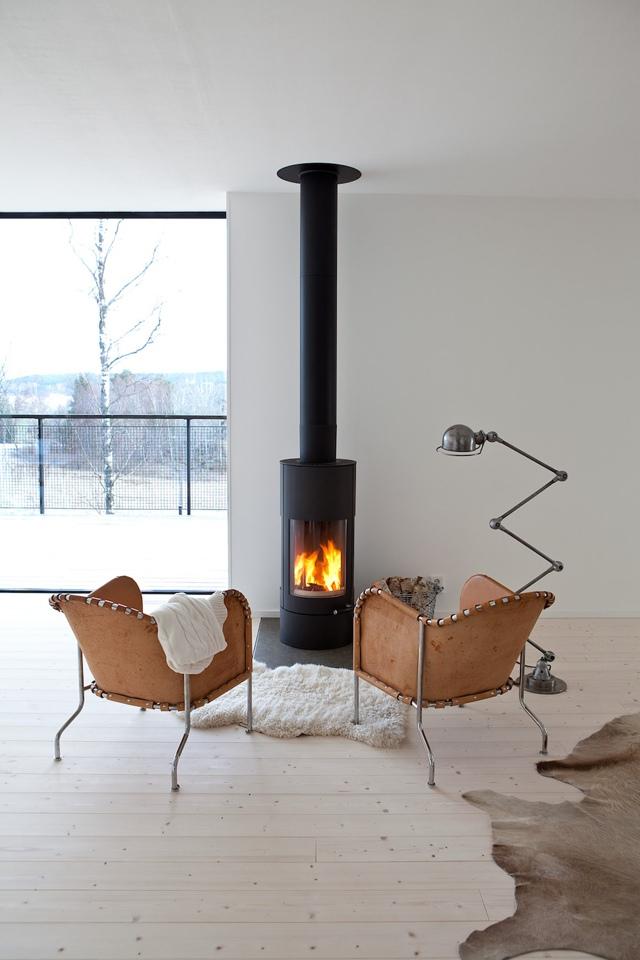 modern unique fireplace