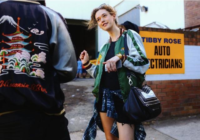 wear bomber jackets Australia Fashion Week
