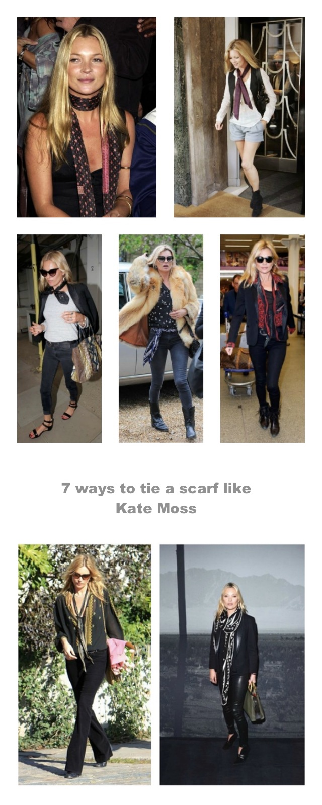 7 ways to tie a scarf like kate moss