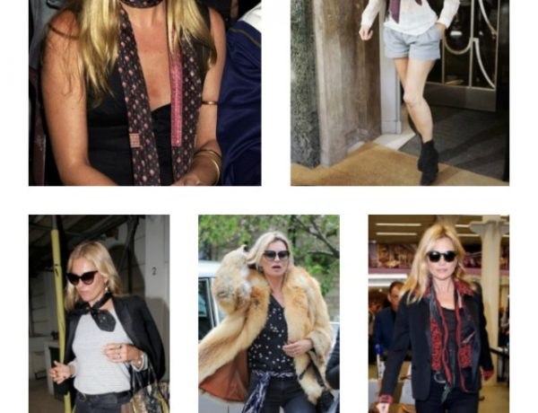 How to tie a scarf like Kate Moss