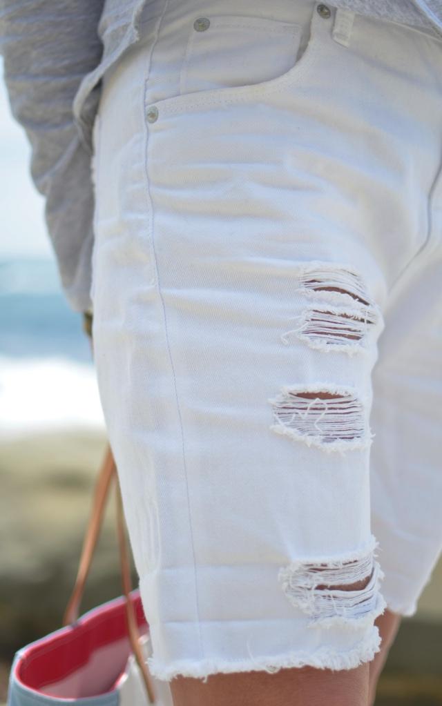 bermuda white shorts