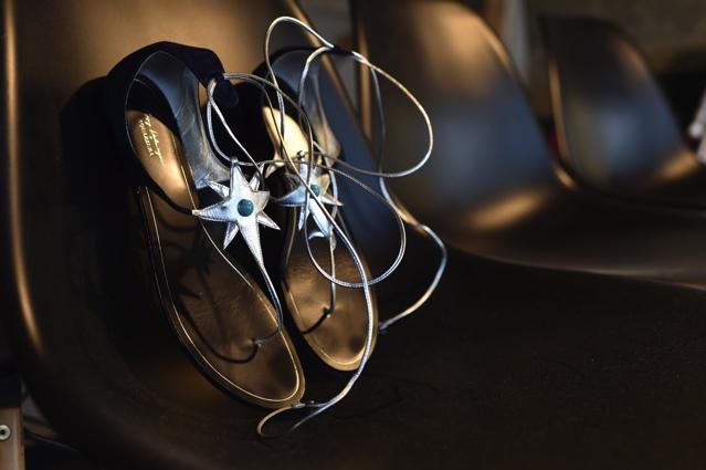 Aquazzura Poppy Delevigne star flat sandals