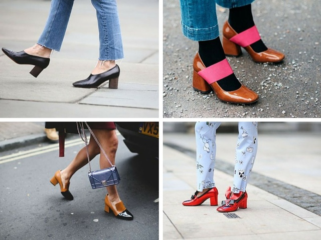 block heels collage