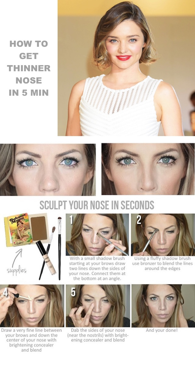 how to get a thinner nose in 5 min