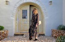 Boho Chic Street Style Vintage Tapestry Print Floral Dress