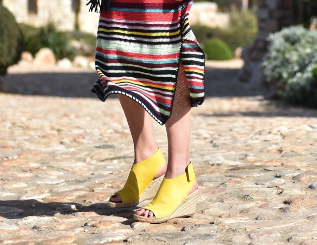 Celine yellow espadrilles street style