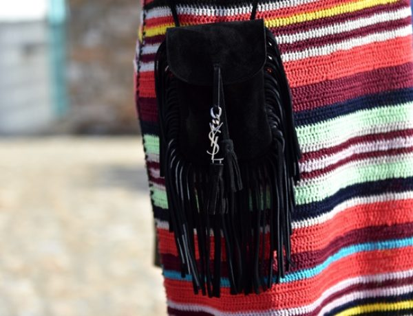 TrendSurvivor Nina Papaioannou Stripe dress Fringe Saint Laurent bag Celine espadrilles11