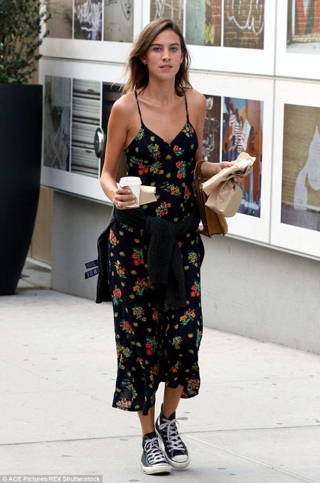 floral print midi dress Alexa Chung