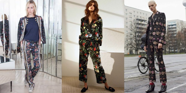 floral print suits Fall 2016