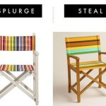Outdoor Decor Striped Directors Chair Splurge or Save