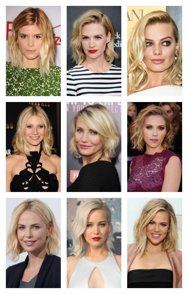Blonde celebrity bob haircuts