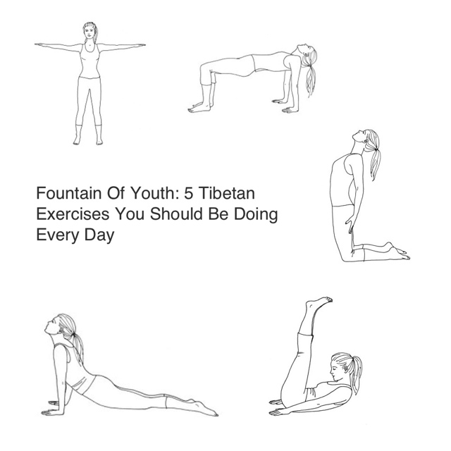 Fountain Of Youth- 5 Tibetan Exercises You Should Be Doing Every Day