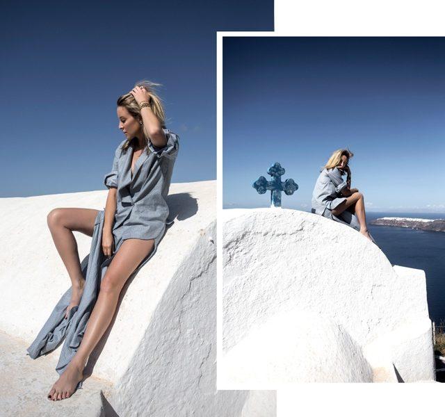 summer style Santorini shirtdress