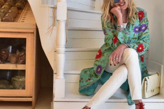 Trendsurvivor  Embroidered silk coat wild thing Aquazzura Street style05
