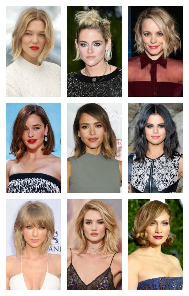 celebrity bobs and lobs