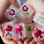 Brighten up with flower ice cubes