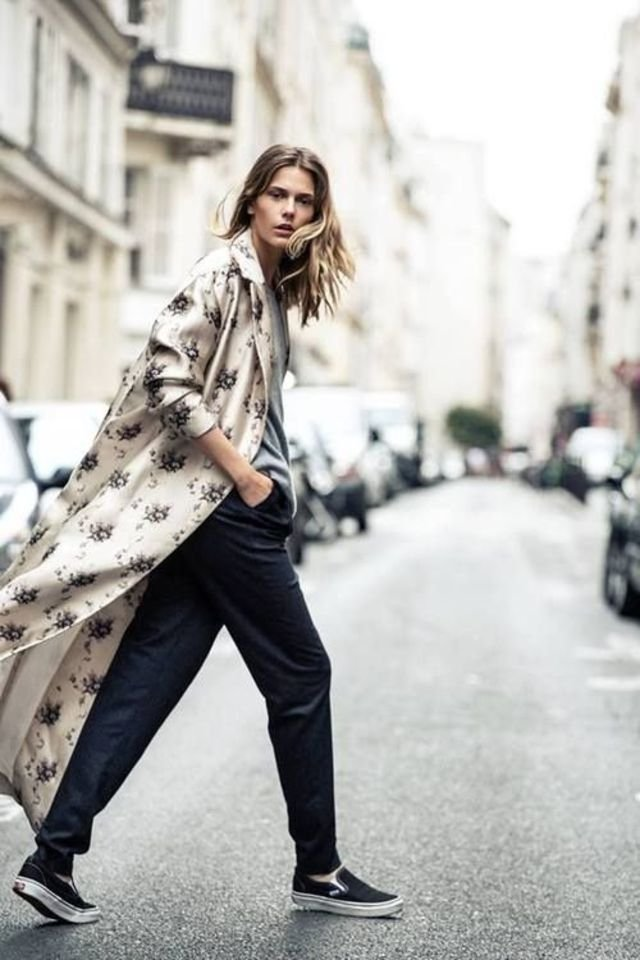 silk robe coat street style ideas
