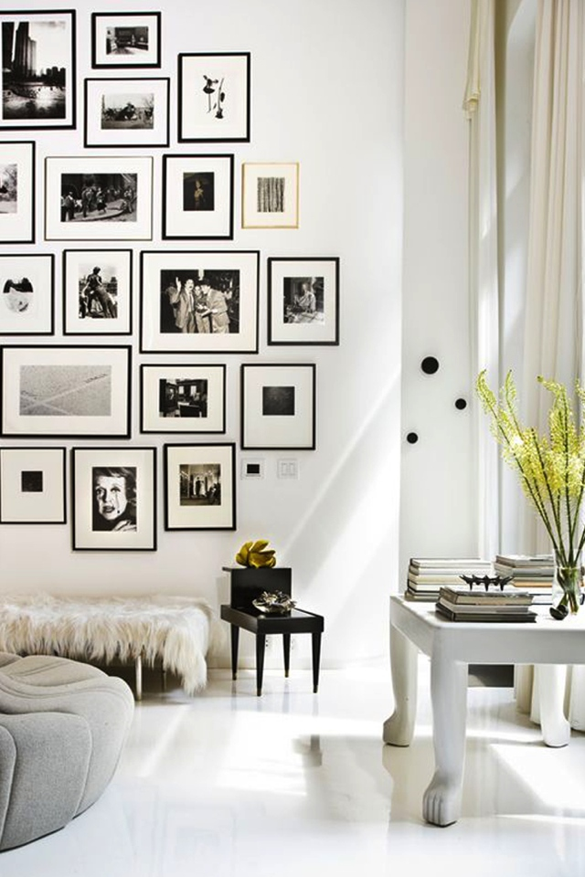 frames black living room