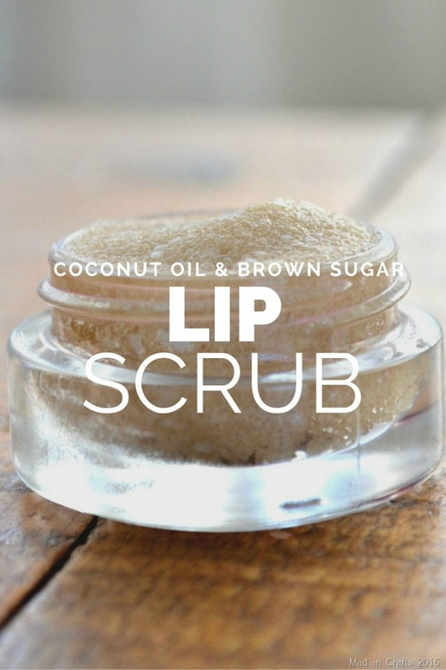 coconut oul and brown sugar lip scrub