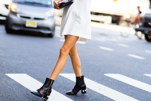 new-york-fashion-week-street-style-ankle-boots-gucci, Best block heel booties shopping guide