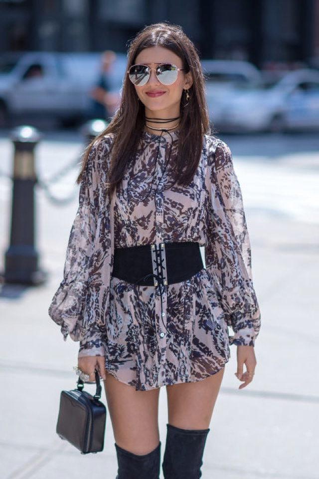 victoria-justice-h-and-m-blouse-dress