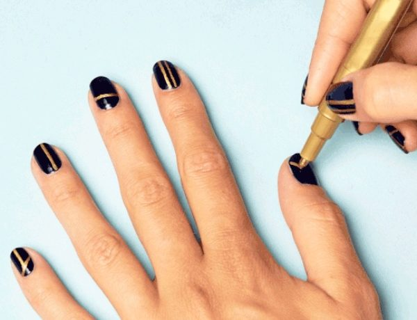 black-gold-nail-art-hacks
