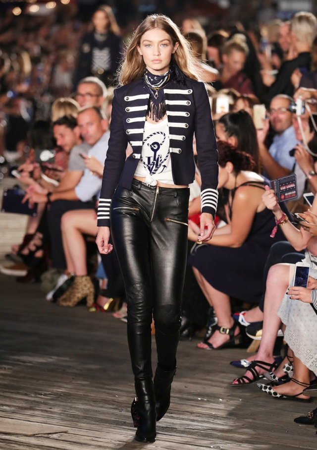 gigi-hadid-tommy-hilfiger-military-jacket-leather-pantsjpg