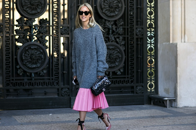 chunky-knit-over-pleated-skirt