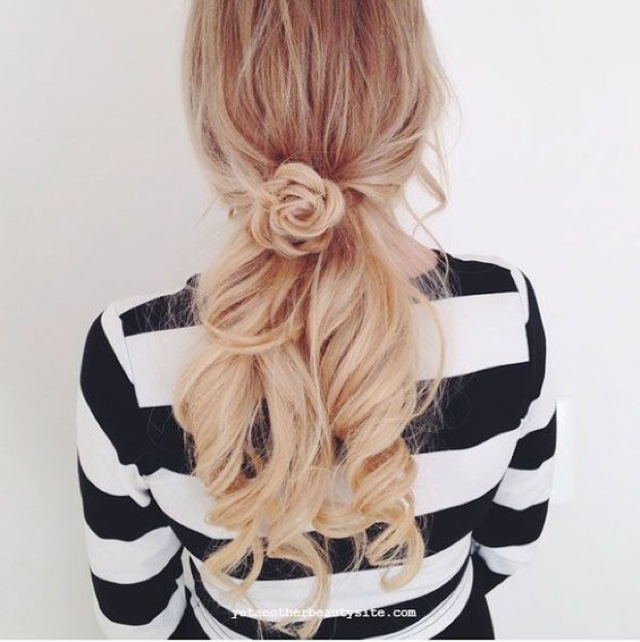 Easy Hairstyles Ideas Rose Braid Flower Bun Video