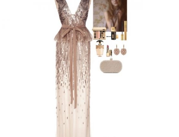 embellished nude dress collage