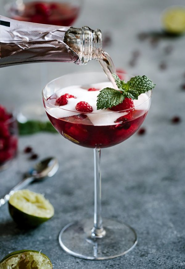 raspberry-and-pomegranate-rose-cocktail