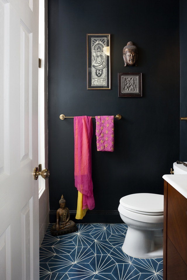 black small bathroom