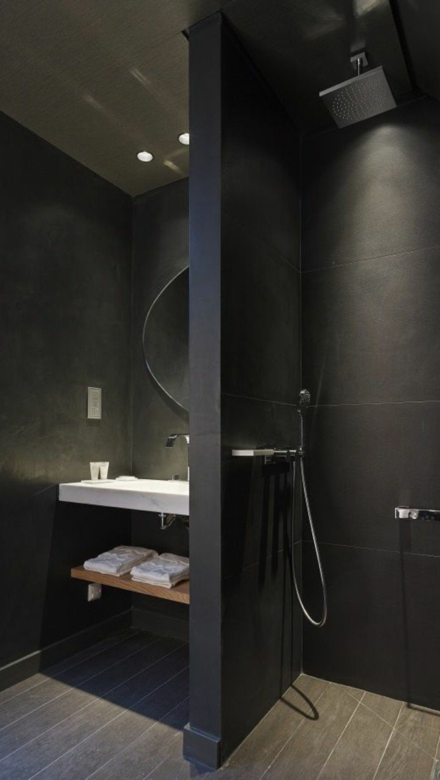 black bathroom small