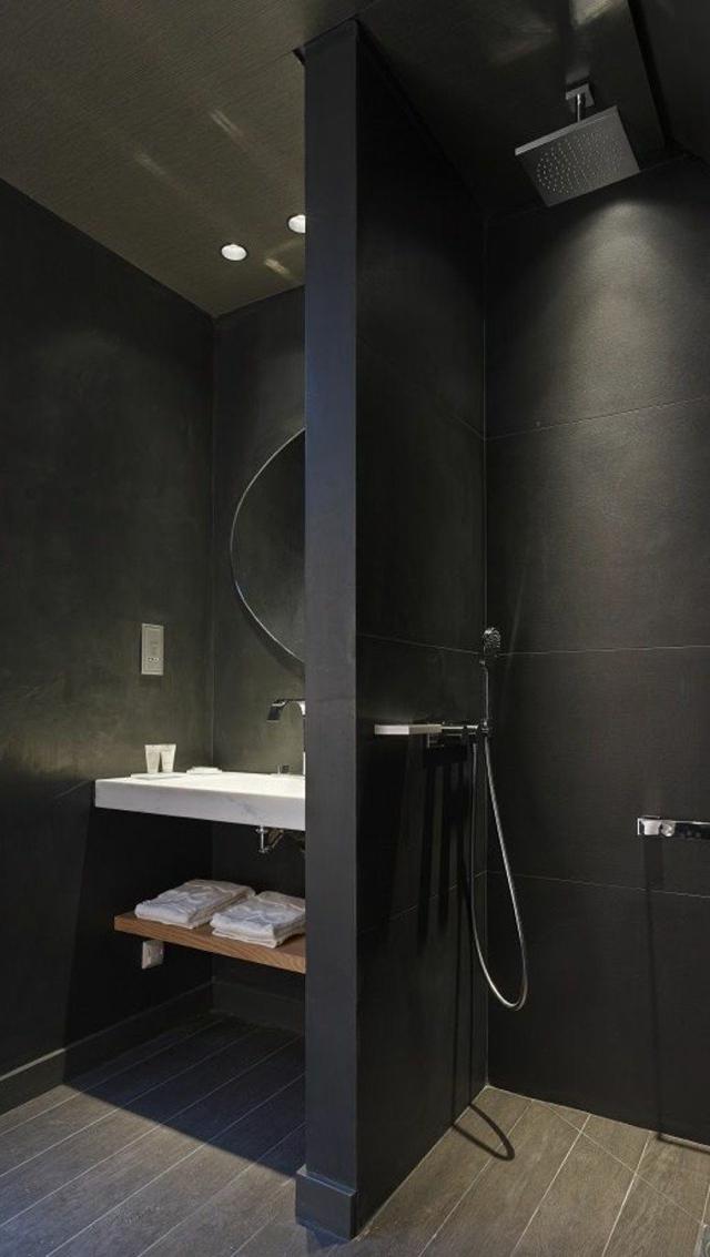 black bathroom small