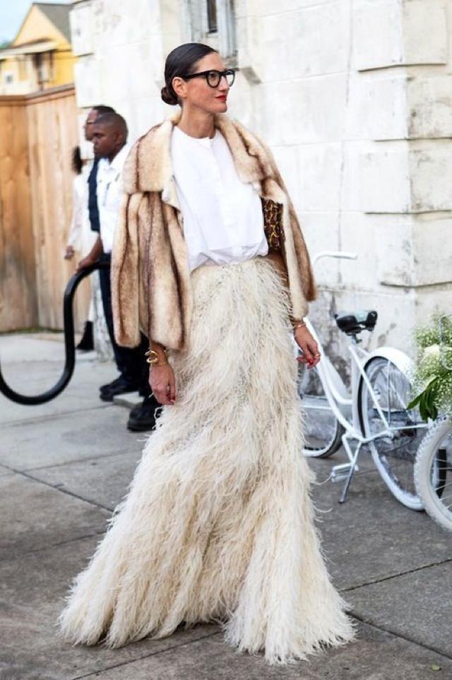 Jenna Lyons fur coat