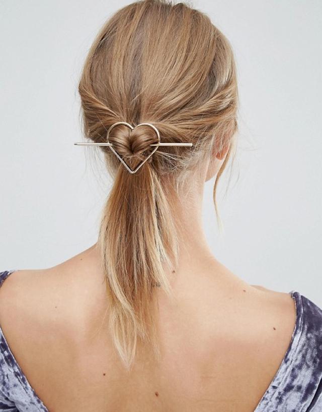 hair accesories heart