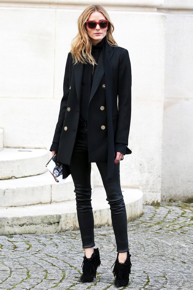 Olivia Palermo blazer skinnies