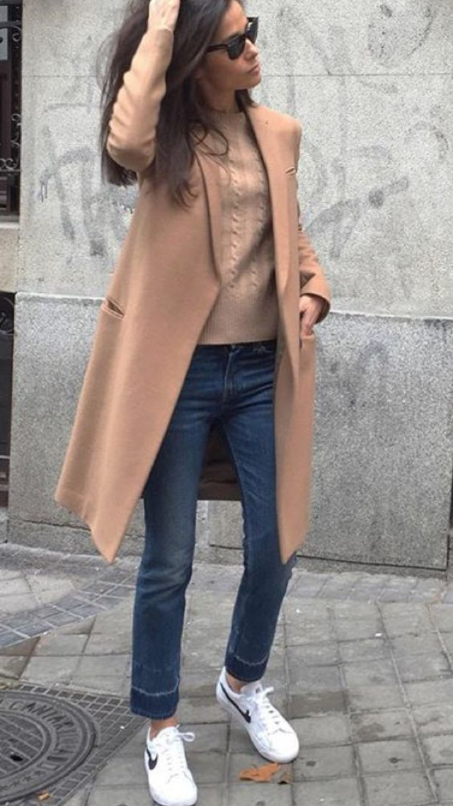 camel coat sweater