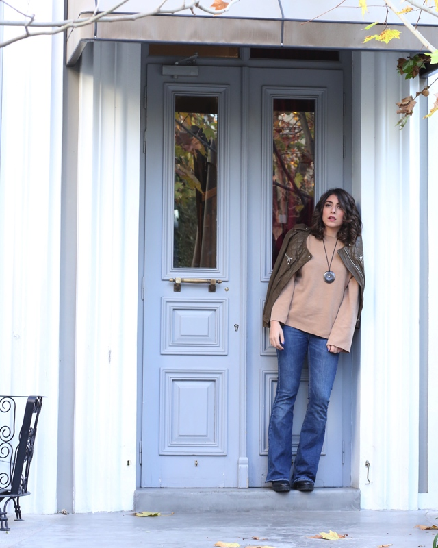 eathy tones winter outfit street style00