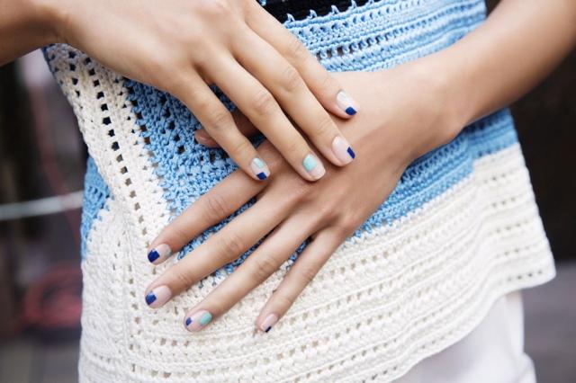 minimal cubist nail art