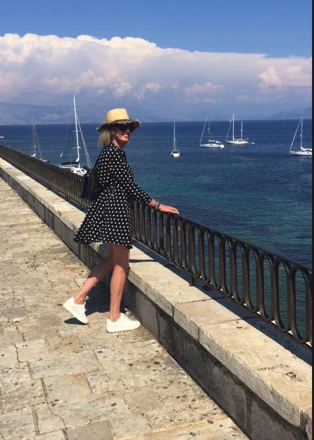Corfu marina polka dots