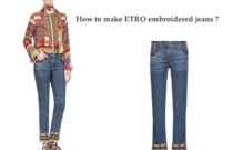 DIY // How to make embroidered ETRO jeans?