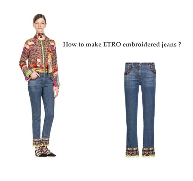 ETRO embroidered Jeans DIY