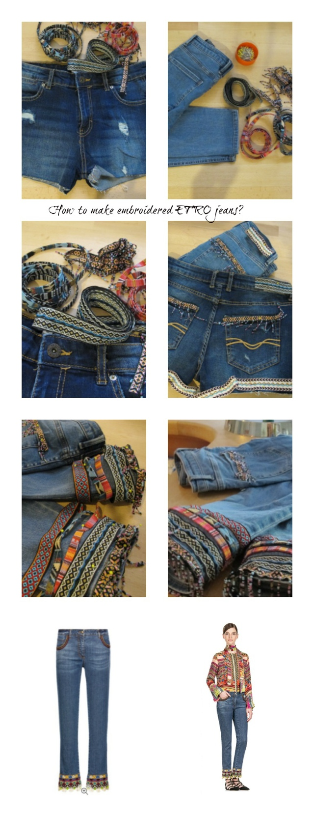 How to make ETRO jeans