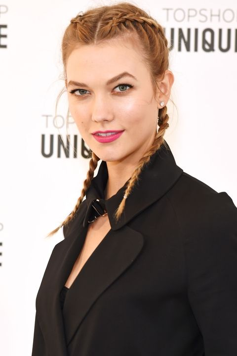 hair middle-parts-karlie-kloss