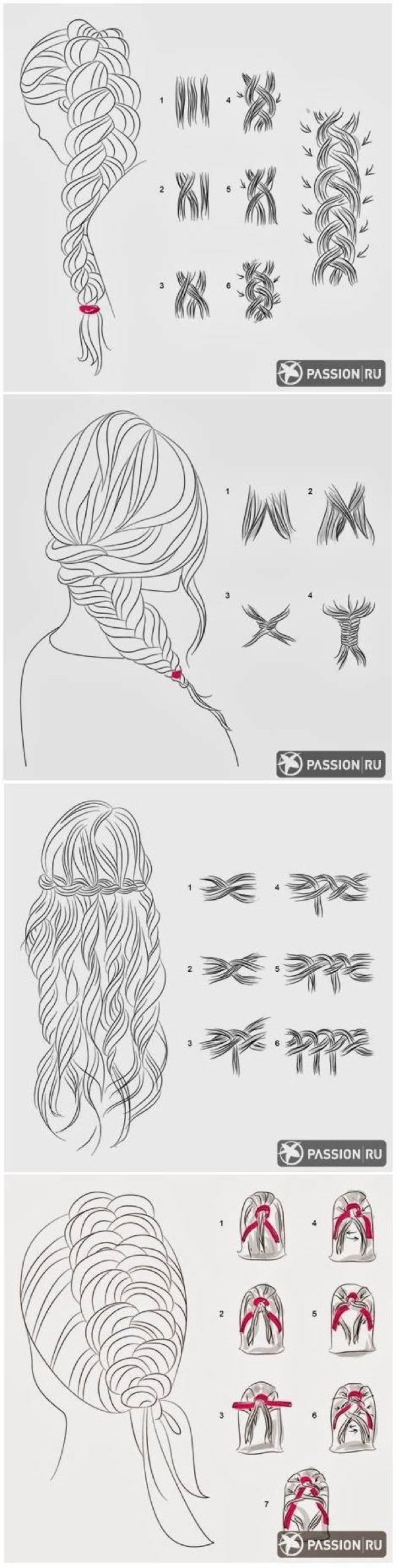 how to do braids illustration
