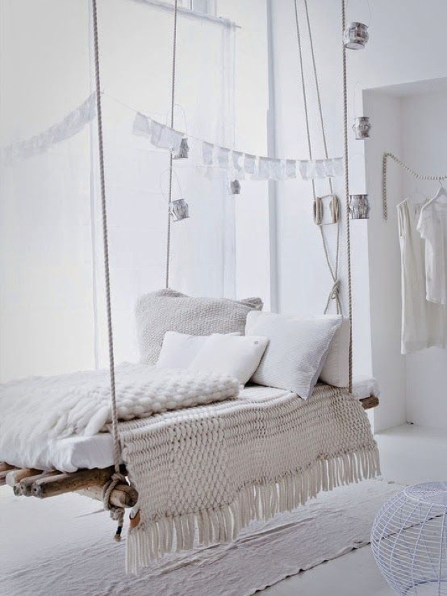 interior hanging daybeds