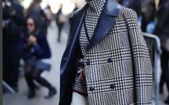 Miroslava Duma check jacket
